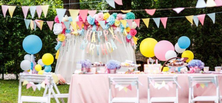 Les décorations pour la fête d'anniversaire de votre enfant
